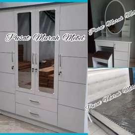 MURAH MEBEL. Paket Kamar Set Spring Bed Lemari Meja Rias Pekanbaru