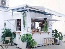 Booth Semi Container / Franchise Minuman Thai Tea / Container Jualan