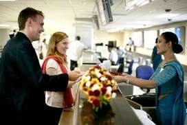 AIRPORT TICKET CHECKING STAFF