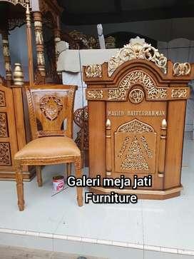 Mimbar Masjid.minimalis ukir B40 kayu jati