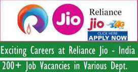 JIO process urgent hiring for KYC / CCE / Back office Executive