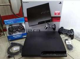 PS3 Slim 500GB + 2 Stik ful 100 game Dijual cpt hari ini, Bisa Diantar