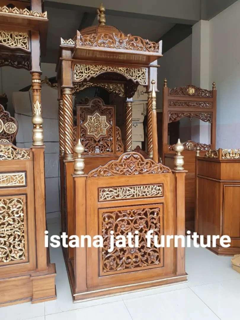 Mimbar masjid tersedia ready stock 0