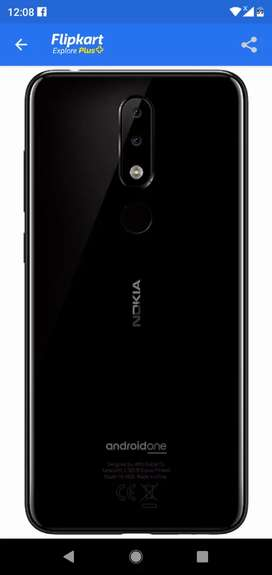 Nokia5.1plus black with good condition,no scratch anywhere,only 8month