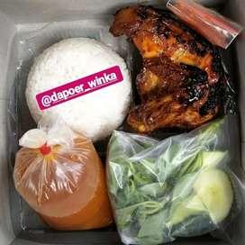 Nasi kotak paket hemat dan higienis ( ayam bakar madu )