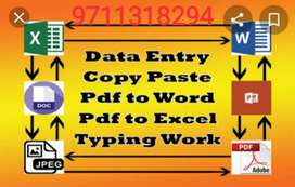 Do good get good income on pc work in computer dats typing in English