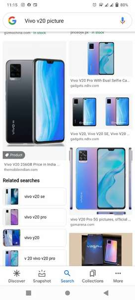 Vivo v20 8 gb 128 gb for sale with 10 month warranty with box