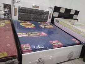 New Fresh Double Bed With Mattress Size6
