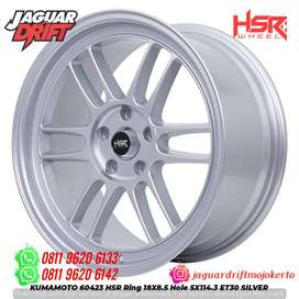Pelek Mobil Xpander Civic Ring 18 Hsr Kumamoto H5x114,3 Silver