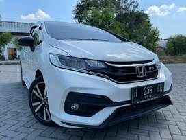 Jazz RS 2019 putih mutiara (white orchid pearl) kilometer rendah