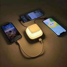Pibox Powerbank Display LED Built-in USB Type C + Lightning 10000mAh