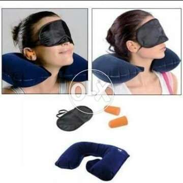 Ear plugs and eye cover pillow. 0