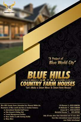 Blue hills country farm houses a project of blue world city Islamabad