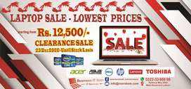 Laptop Sale Stock Clearance | Heavy Discount All branded of Lot ka Mal
