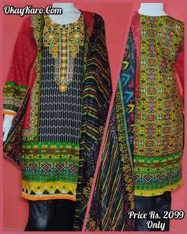 Designer Lawn Pret & Cotton Stitched Ready To Wear Suits / Dresses.