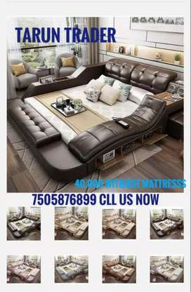 Multifunctional king size double bed available