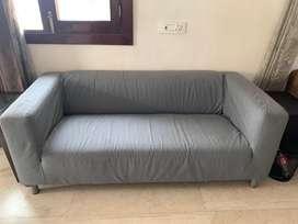 IKEA KLIPPAN sofa - Grey Color - 2+ seater very less used