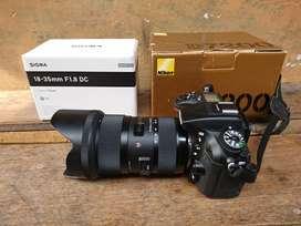Nikon d7200 lens Sigma 18 35 mm f1,8 Art