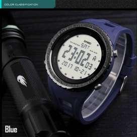 jam tangan digital skmei ori ab1246 biru gelap