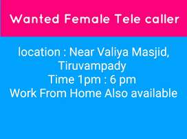 Tele caller marketing work from. Home