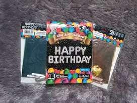 "Balon huruf ""HAPPY BIRTHDAY"""