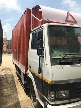Tata 407 LPT 14ft cng container body orignal paint as like new