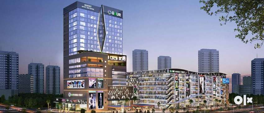 Commercial shop and office space for sale Gaur World Street
