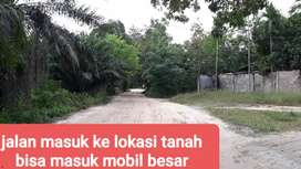 tanah murah 1ha,jl lintas timur km18,cocok utk gudang,kota pekanbaru