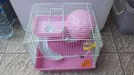 Kandang Hamster 2 tingkat berbagai warna imut