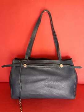 Tas import eks HERMES paris made in France tote navy ad nomor seri