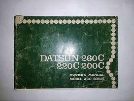 Datsun 260C-220C-200C series 330 - Buku Pedoman Pemilik