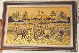 Barang Lukisan harmony pedesaan, eks lelang kantor