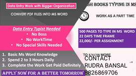Home based typing job pdf to Ms word typing earn 22k