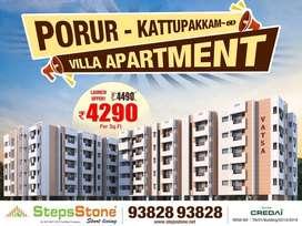 Aesthetically  Villa Apartment 2 BHK - Kattupakkam-porur