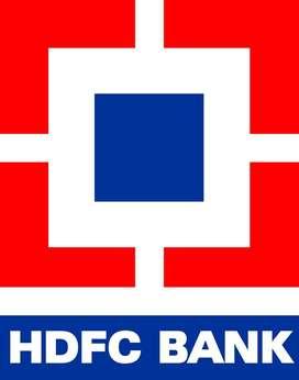 (HDFC BANK) में तत्काल आवश्यकता है ,''