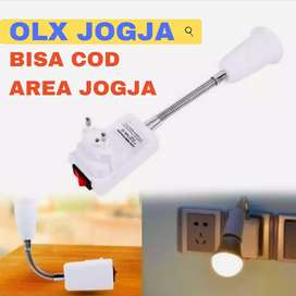 Fitting Lampu Adapter Lampu Sudah Include Ada Tombol ON/OFF