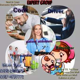 All kind of DoMestic Staff available 24/7, 12/7
