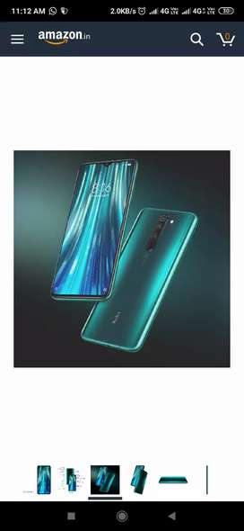 Mi note 8 pro 8 GB ram and 64 GB ROM sealed pack and green and Black
