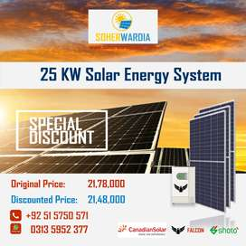 Home Power Solution, Luxurious Home Solar System 25 KW