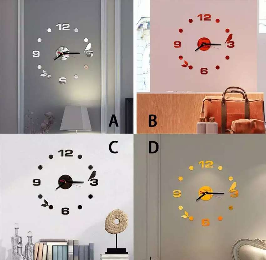 Jam dinding diameter 40 cm motif burung 0