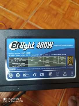 PSU power supply enlight 400W 80bronze