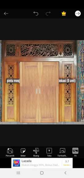 Daun pintu full ukir asli kayu jati