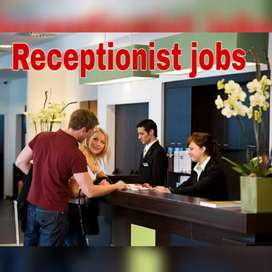 Intermediate/graduate apply receptionist job vacancy