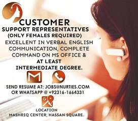 Support n Sales Representative ( Female Only)