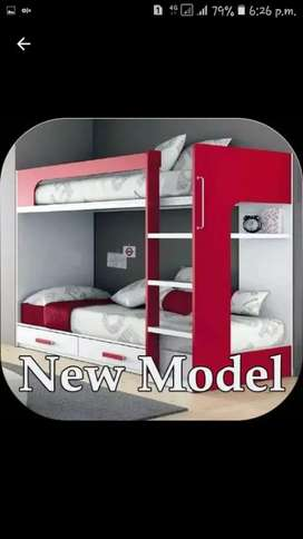 Three seater bunk bed for kids