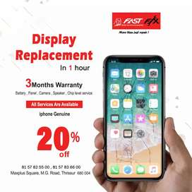 iPhone Display replacement orginal.with warrnty