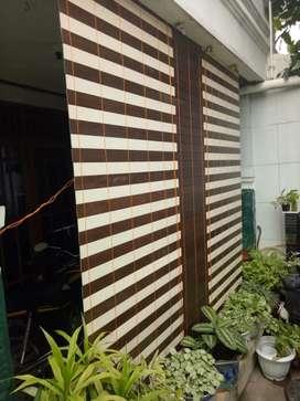 Tirai / krey kayu dan PVC 3
