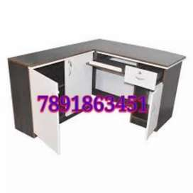 New.w branded l shape office table with cabinet drawer