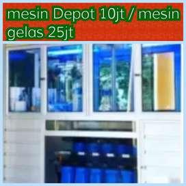 Usaha Air Minum : depot 3 pengisian Galon 10Jt (m.gelas ; ADA)