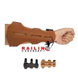Arm guard / aksesoris panahan bahan kulit asli